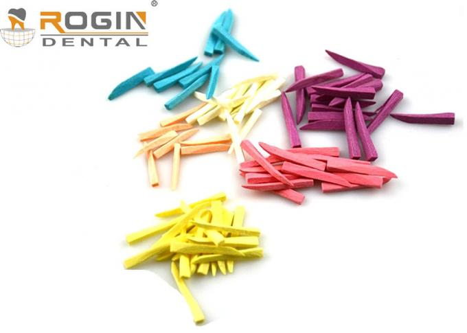 Disposable Dental Sectional Matrix System Wooden Wedges Dental Kit Colorful For Fixing Tooth