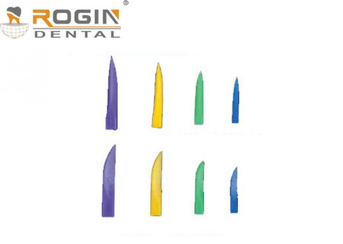Colorful Disposable Dental Matrix System Dental Plastic Wedges for Teeth Fixing