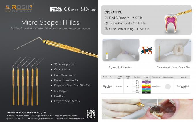 The Latest Files of Micro Scope Files K / H Files For Dentist Use In Root Canal Treatment.
