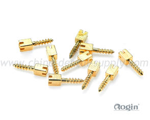 China Golden Plated Dental Screw Post / Pin in Bulk , tooth dental implant screw supplier