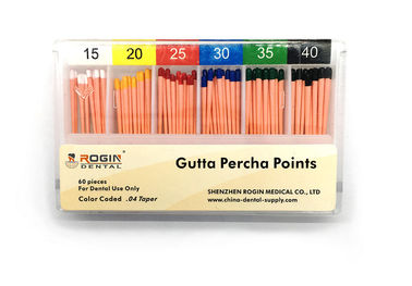 China Endodontic Materials Root Canal Fillings Gutta Percha Points 04Taper For Dentist Use. supplier