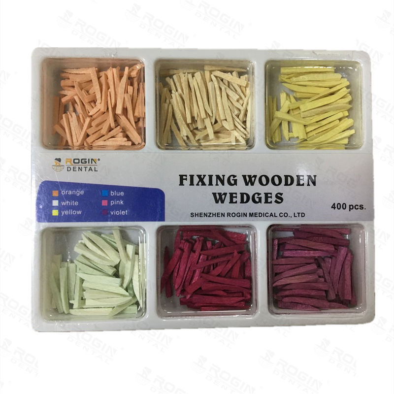 Disposable Wooden Wedges Dental , Colorful Fixing Tooth Wedges In Dentistry