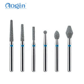 China Dental Diamond Burs , FG Burs Dental Instruments With Natural Diamond Powder distributor