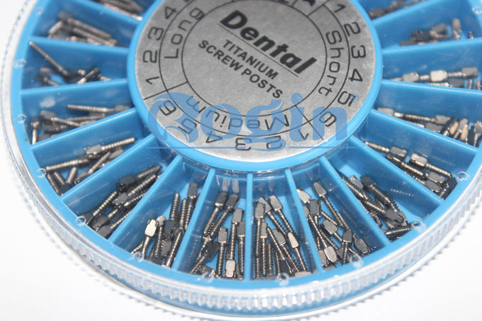 Metal oral dental post and core , tooth implant screw ISO CE standards