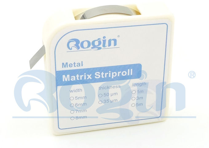 Stainless Steel Dental Sectional Matrix System Matrix Strips 3m / Roll